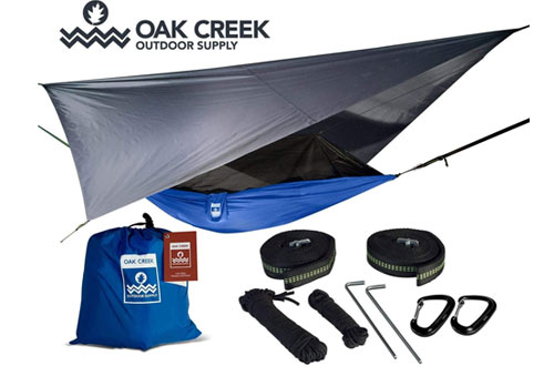 Oak Creek Outdoor Supply Camping Hammocks with Mosquito Net