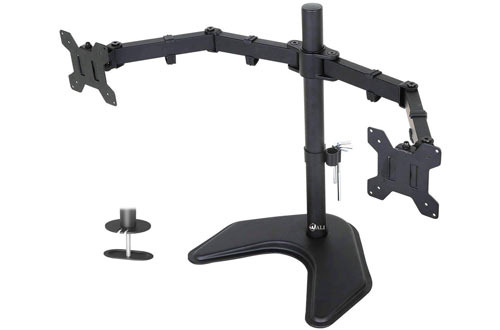 Fully Adjustable WALI Free Standing Dual LCD Monitor Mount for Desk