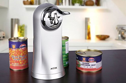 Electric Can Opener with Bottle Opener