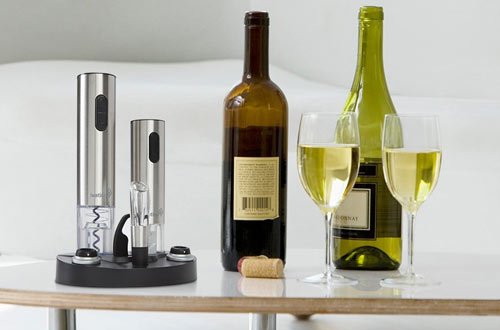 Ivation Wine Bottle Opener Set - Electric Vacuum Wine Preserver