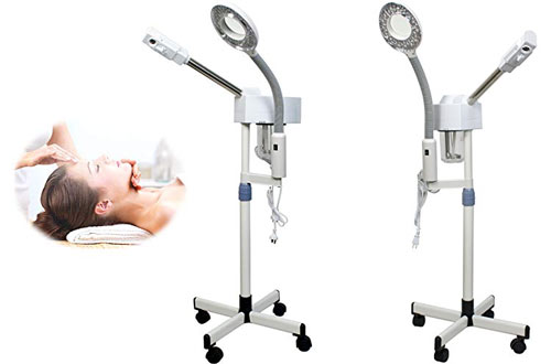 Nova Microdermabrasion Aromatherapy Facial Steamer with Magnifying Lamp