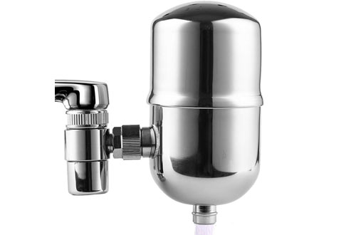 Engdenton Stainless-Steel Faucet Water Filter - Water Filters for Faucets