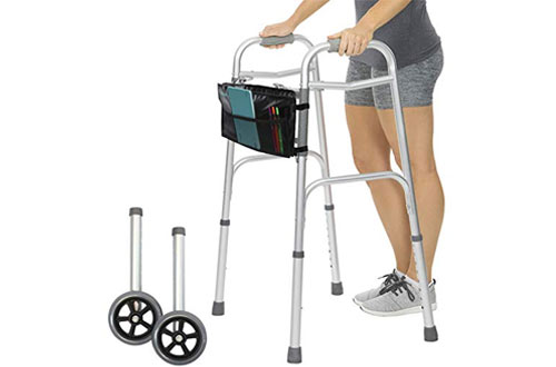 Vive Portable Medical Folding Walker for Elderly & Handicap