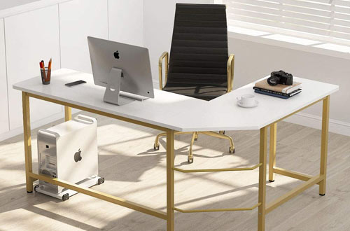 Tribesigns Modern L Shaped Corner Computer Office Desk