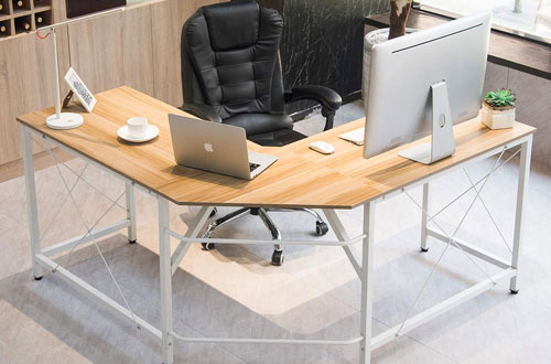 Mr IRONSTONE L-Shaped Desk Corner Table for Home Office