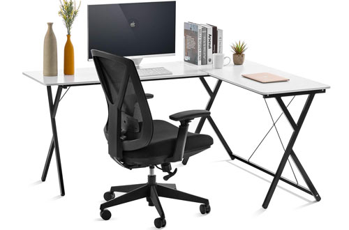 Orafhome Computer Desk L-Shaped Desk & Corner Table with Modern Design