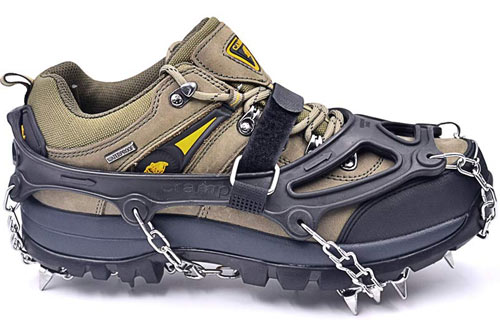 Leanking Traction Ice Cleats for Walking, Jogging, Climbing and Hiking on Snow