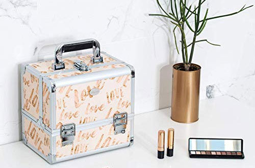 Joligrace Lockable Makeup Train Case with Mirror
