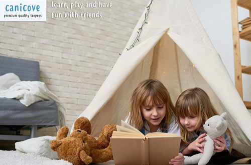 Canicove Large Teepee Tents for Kids