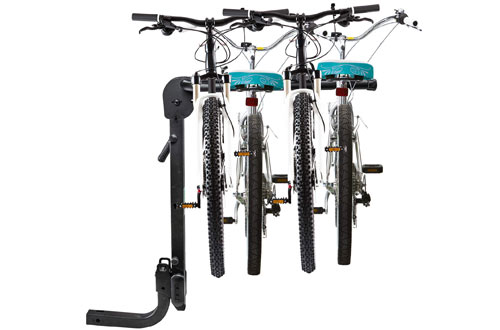 RaxGo Premium Folding Hitch Bike Rack Carrier - Sturdy Bicycle Swing Away Rack
