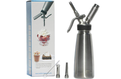 Professional Grade Stainless Steel Whipped Cream Maker