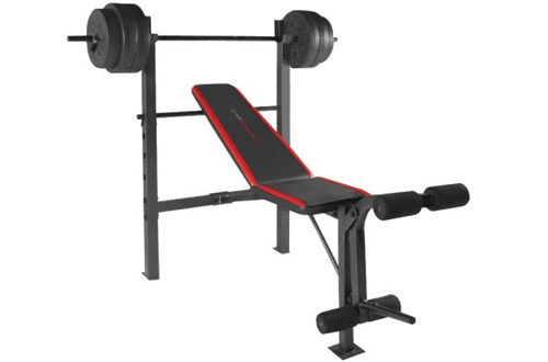CAP Strength Standard Weight Bench with 100 lb Weight Set