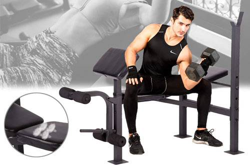FDW Olympic Weight Bench with Squat Rack Stand