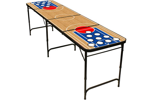 Folding Beer Pong Table with Bottle Opener, Ball Rack and Balls