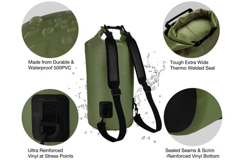 Piscifun Waterproof Floating Dry Backpack for Men & Women