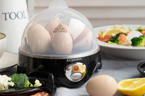 Alcyoneus Rapid Noise-Free Hard Boiled Egg Cooker with Auto Shut Off