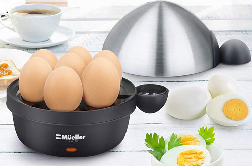 Mueller Rapid Hard Boiled Egg Maker with Auto Shut-Off