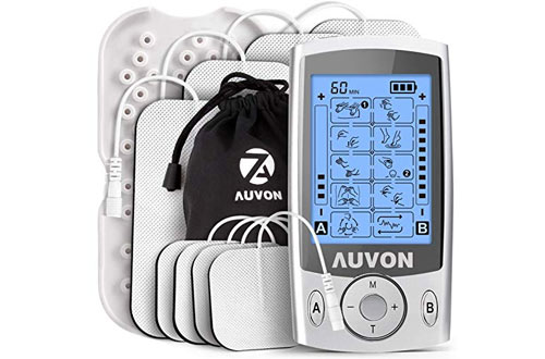 AUVON Dual Channel TENS Muscle Stimulator Unit