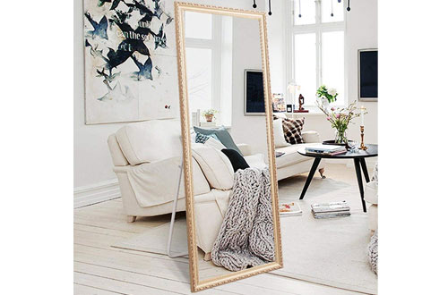 Stone & BeamLarge Rectangle Wooden Finished Frame Standing Mirror