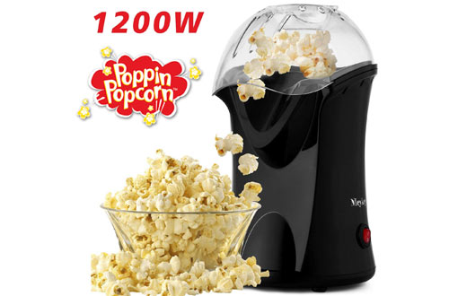 Homdox Electric Hot Air Popcorn Machine for Home Use