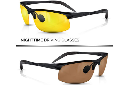 BLUPOND Daytime Polarized Night Driving Glasses