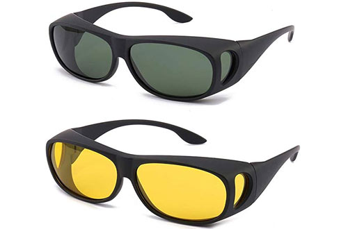 Gemgoo HD Night Day Vision Driving Sunglasses with Polarized Lens