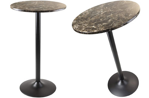 Winsome Wood Cora Dining -Black/Faux Marble
