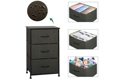 WLIVE 3 Drawers Dresser Storage Organizer for Bedroom, Hallway, & Closets