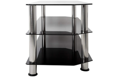 "AVF SDC1140-A Black Glass TV Stands for 55"" TV"