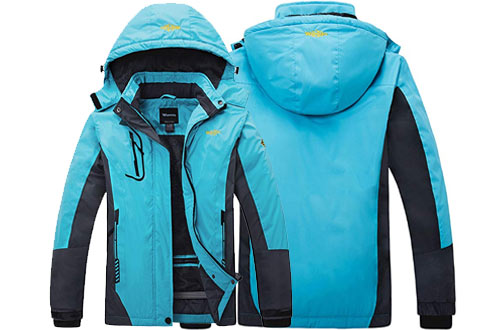 Wantdo Women's Mountain Waterproof Ski Jackets