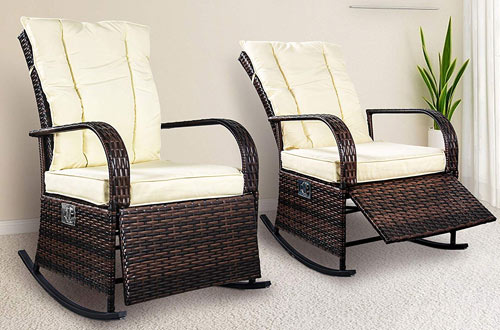 Adjustable Rattan Reclining Chair