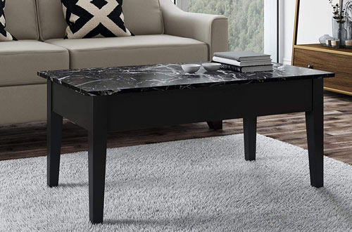 Dorel Living Faux Marble Black Lift Top Coffee Tables