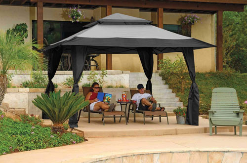 Z-Shade 13' x 13' Instant Patio Gazebo Canopy Tent & Outdoor Patio Shelter