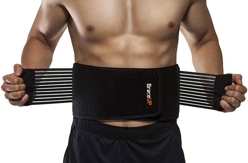 BraceUP Stabilizing Lower Back Brace Support Belt with Dual Adjustable Straps