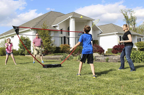 Zume Games Portable Badminton Sets with Freestanding Base