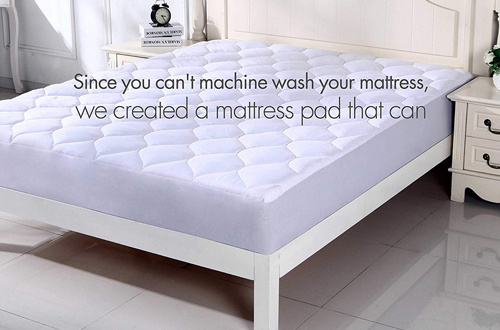 SNUZZZZ Quilted Fitted Cooling Mattress Pads -King SizeMattress Topper