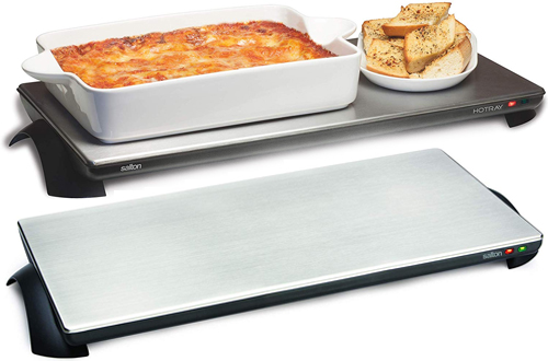 Salton TWT-40 Silhouette Cordless Classic Electric Warming Trays
