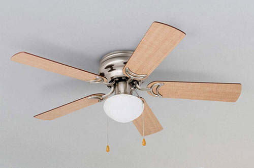 Prominence Home Alvina Globe Low Profile Ceiling Fan with Lights