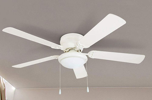 Portage Bay Hugger White West Hill Ceiling Fan with Bowl Light Kit