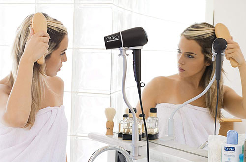 Skywin Hands-Free Mount Hair Dryer Stands & Hair Dryer Holder