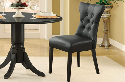 Modway Silhouette Modern Tufted Faux Leather Parsons Kitchen & Dining Room Chairs