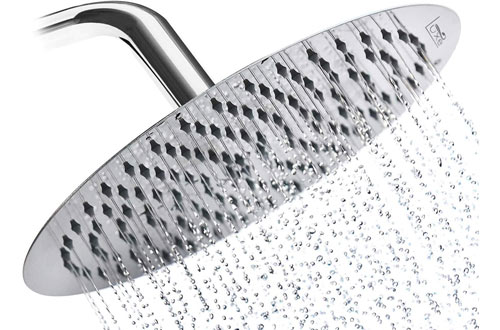 Luxe RainLuxe High-Pressure Flow Waterfall Shower Head