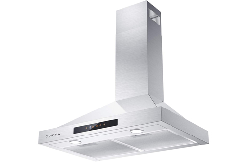 Stainless Steel Stove Vent Hood with Speed Exhausted Fan