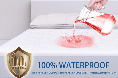 ZAMAT Queen Waterproof Mattress Protector - Breathable & Noiseless Mattress Pad Cover