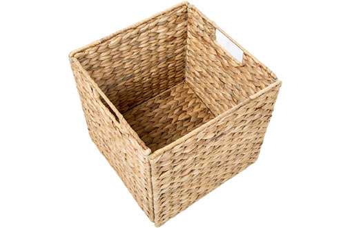 Trademark Innovations Foldable Storage Baskets with Iron Wire Frame