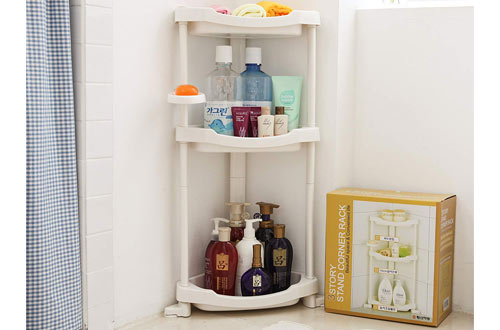 Tenby Living Corner Shower Caddy - 3-Shelf Shower Organizer Caddie