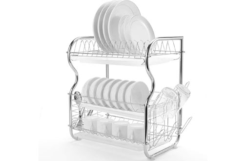 Glotoch Express Over the Sink Dish Rack for Kitchen Countertop