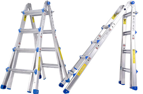Aluminum Extension Multi-Purpose Folding Ladders with 300 lb