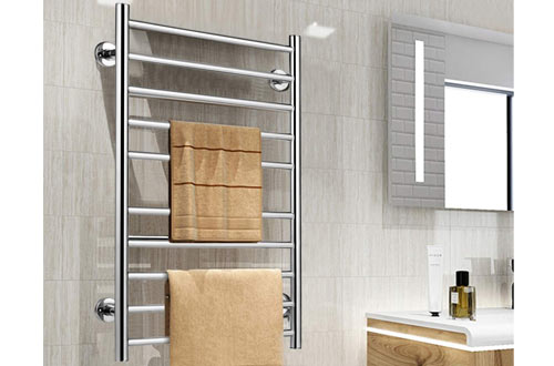 Tangkula Bathroom Heated Towel Bars