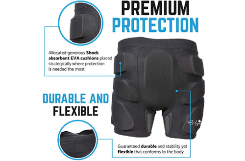 Bodyprox Protective Padded Shorts for Snowboard, Skate and Ski